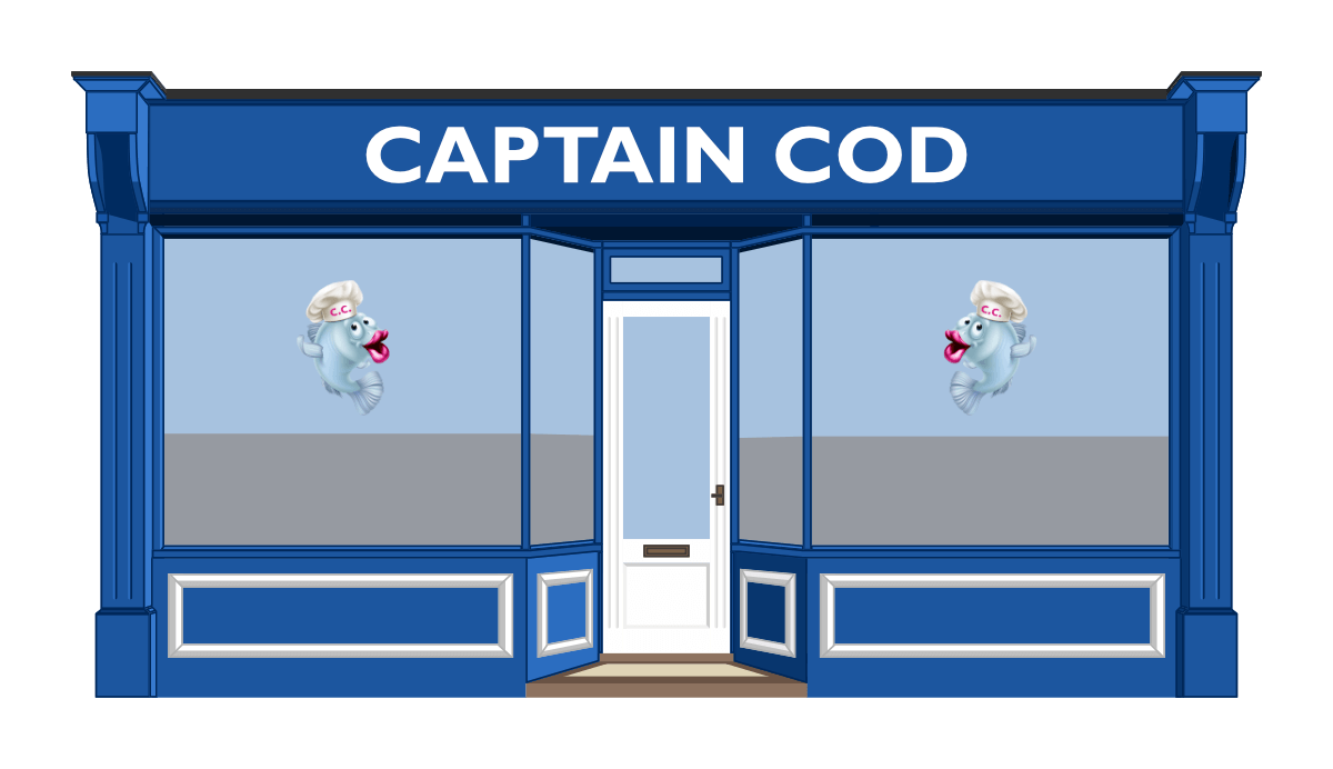 Captain Cod's shop-front